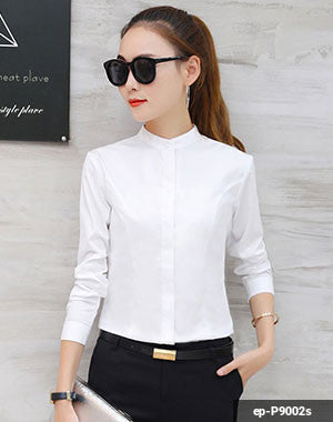 Women Long Sleeve Shirt ep-P9002s