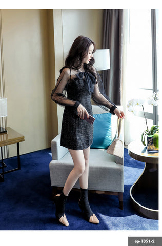 Woman Short Dress ep-T851-2
