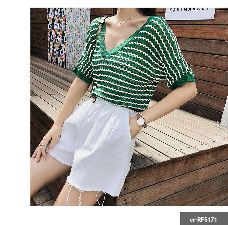 Image of Woman Short Sleeve Shirt er-RF5171