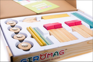Giromag 28 Piece Magnetic Wooden Blocks (T8538)
