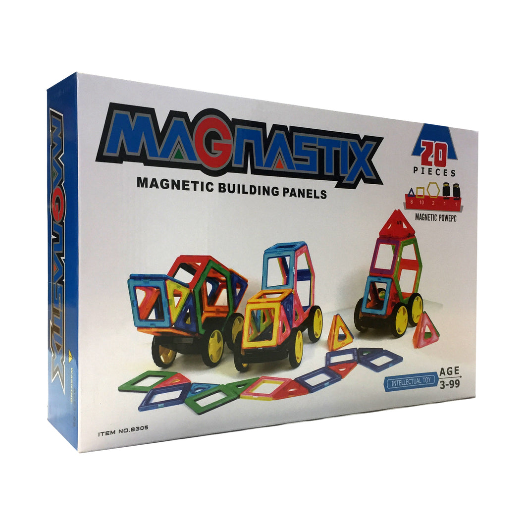 Magnastix 20Pcs Magnetic Building Panels (T4)