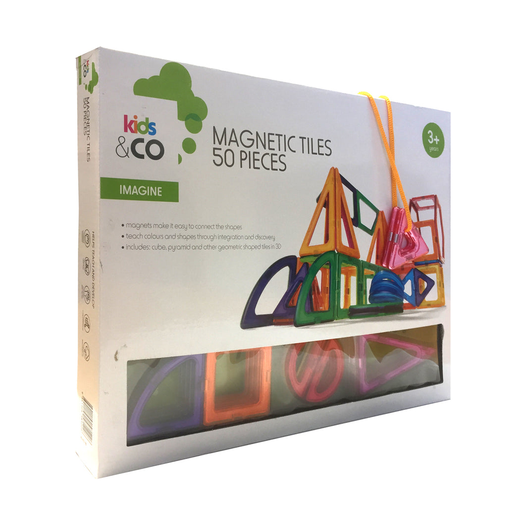 Kids & Co. Magnetic Tiles 50 Pieces