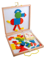 Load image into Gallery viewer, 42 pieces Colorful Wooden Magnetic Puzzle Blocks (T8029)