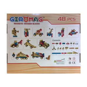 Giromag 48 piece Wooden Block Set (T8544)