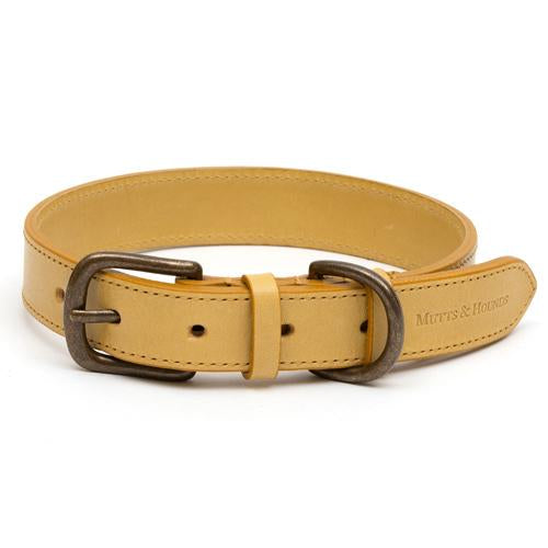 Mutts and Hounds Mustard Full Leather Collar
