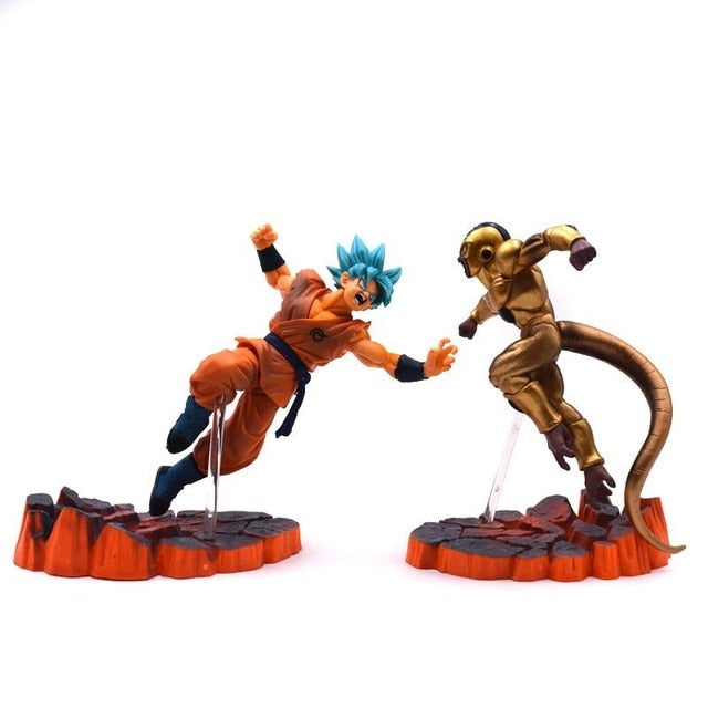 Action figure Goku blue e Freeza gold