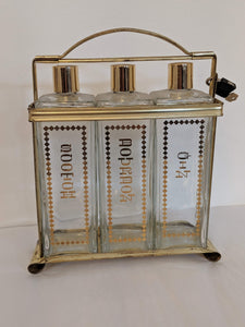 Vintage Decanter Caddy Set