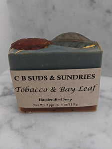 CB Suds & Sundries Handmade Soap - Tobacco & Bay Leaf