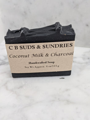 CB Suds & Sundries Handmade Soap - Coconut Milk & Charcoal