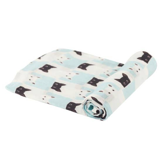 Peek-A-Boo Cats Bamboo Swaddle Blanket