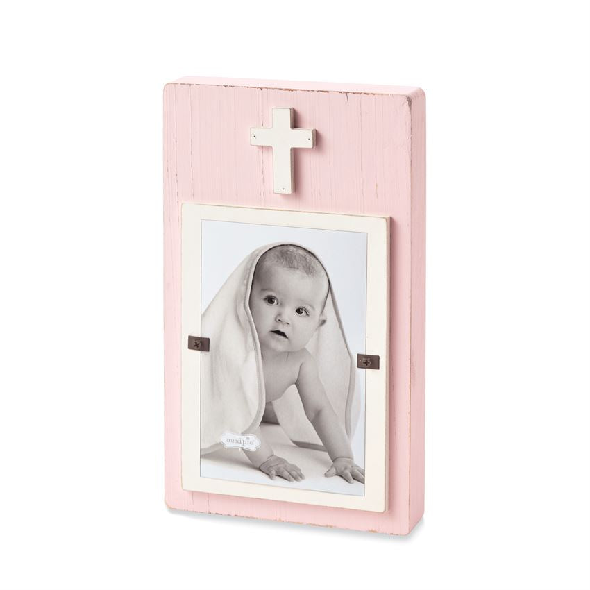 Wood Cross Block Picture Frame (Multiple Options)