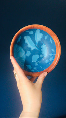 Blue Painted Bowls by Local Artist Jill Reynolds