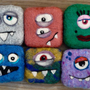 Felted Monster Soaps