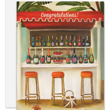 Champagne Shack Congratulations Card