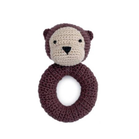 Otter Ring Hand Crocheted Rattle
