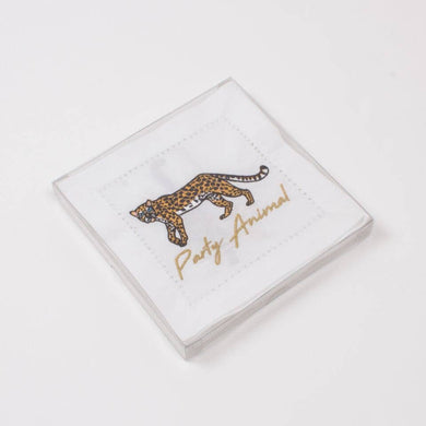 Cheetah Cotton Cocktail Napkins