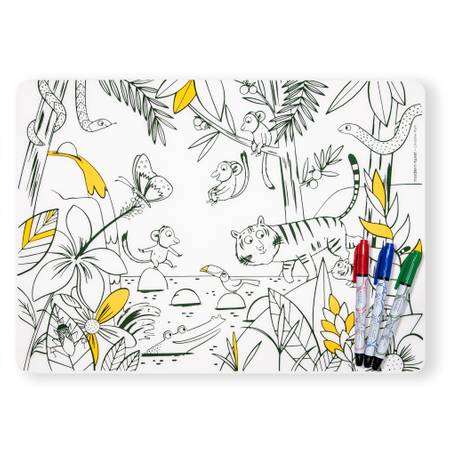 Mark-Mat + 4 Markers Set - Jungle
