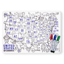 Mark-Mat Set + 3 Markers - US Map