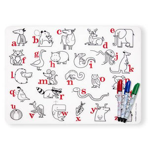 Mark-Mat Set + 3 Markers - Alphabet Animals