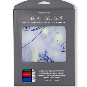 Mark-Mat Set + 3 Markers - Under The Sea