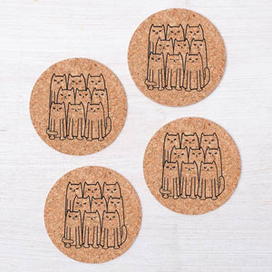 Cats Cork Coaster