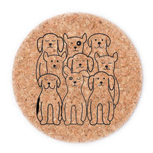 Dog Cork Coasters