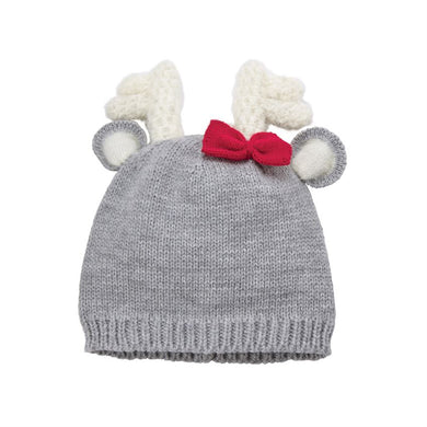 Deer Bow Knitted Hat