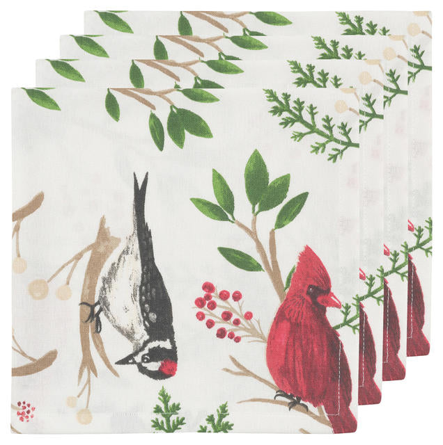 Winter Birds Napkins (Set of 4)