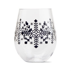 Snowflake Acrylic Stemless Wine Glass