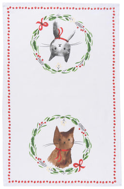 Jingle Cat Tea Towel