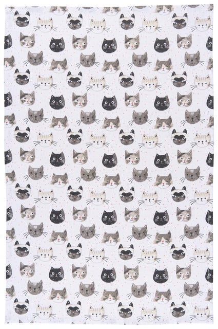 Cats Meow Tea Towel