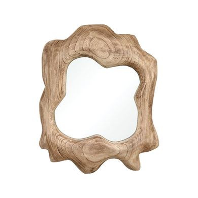 Organic Shape Wood Mirror