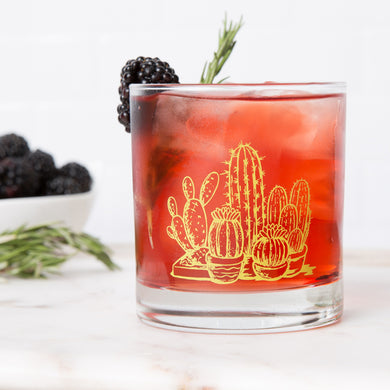 Cactus Rocks Glass (11 oz)