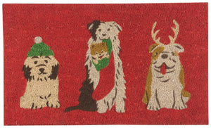 Holiday Pups Doormat