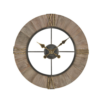 Old Style Wood & Iron Wall Clock