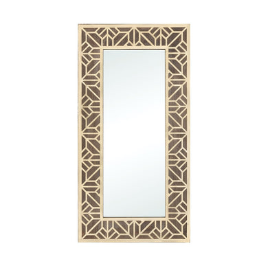 Gold & Salvaged Oak Mirror