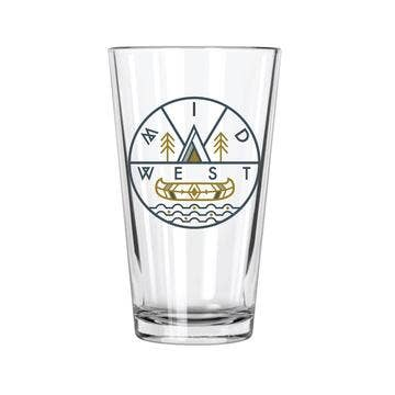 MidWest Pint Glass (16 oz)