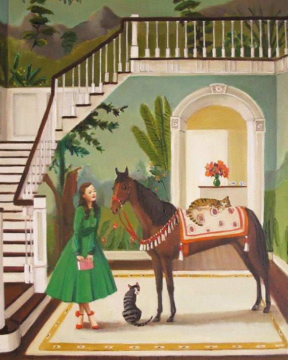 A House Horse Called Rousseau Art Print - 8.5 X 11