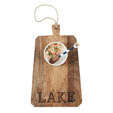 Lake Wooden Board & Dip Set