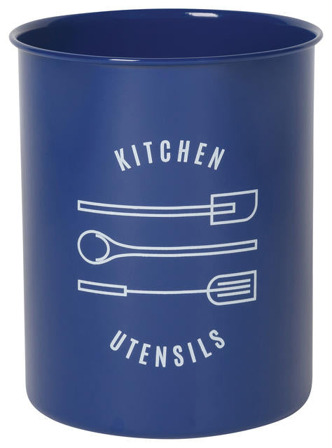 Navy Tin Utensil Crock