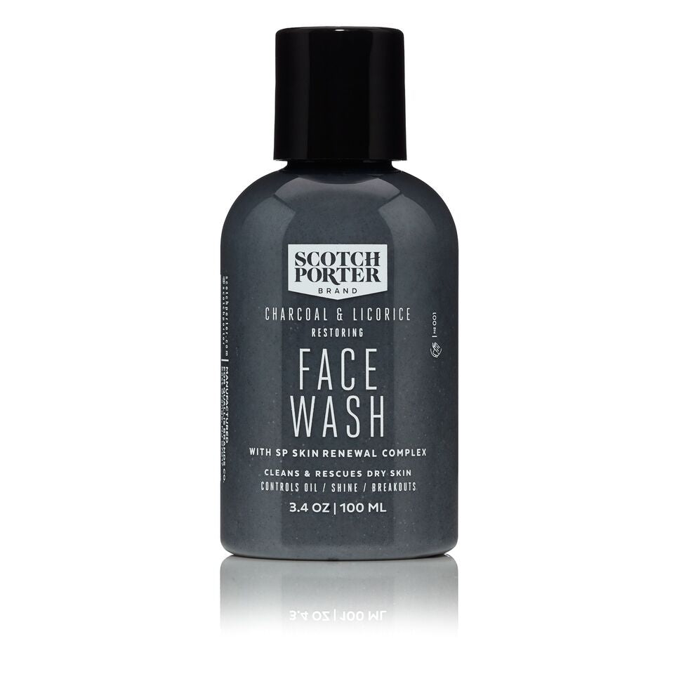 CHARCOAL & LICORICE RESTORING FACE WASH 3.4 oz