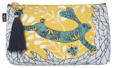 Rabbit & Wolf Pencil/Cosmetic Bag