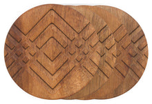 Geometric Acacia Wood Coasters (Set of 4)