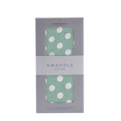 Jade Polka Dots Swaddle Blanket