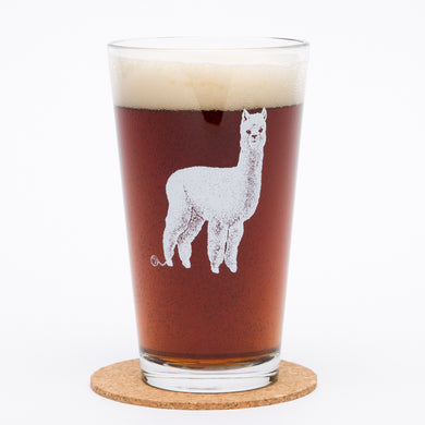 Alpaca Pint Glass (16 oz)