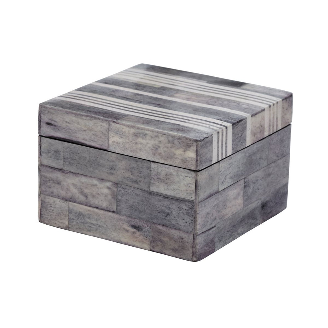 Grey & White Decorative Box