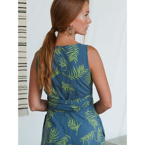 Ana Wrap Palms Dress