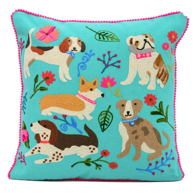 Dogs Meeting Pillow