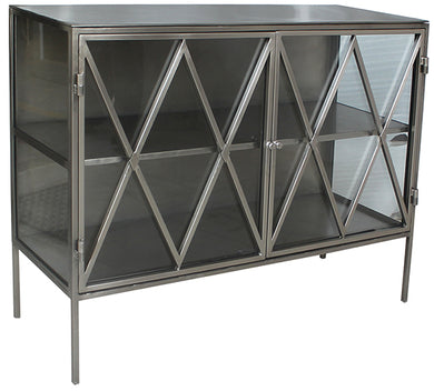 Glass & Nickel Sideboard