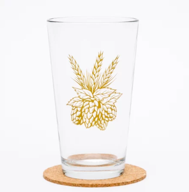 Hops Pint Glass (16 oz)